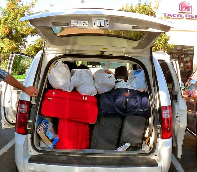 Velikost úložného prostoru v Dodge Caravan