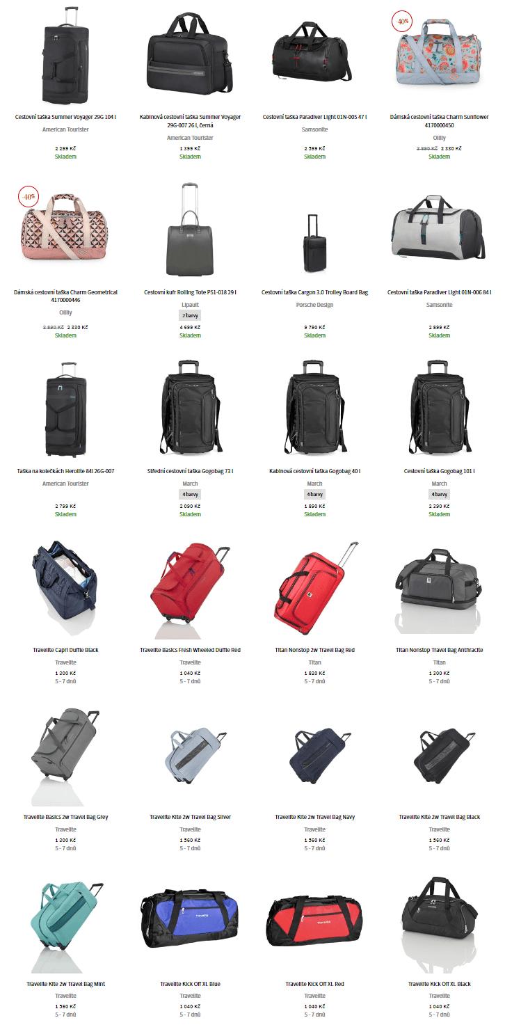 Příruční tašky do USA