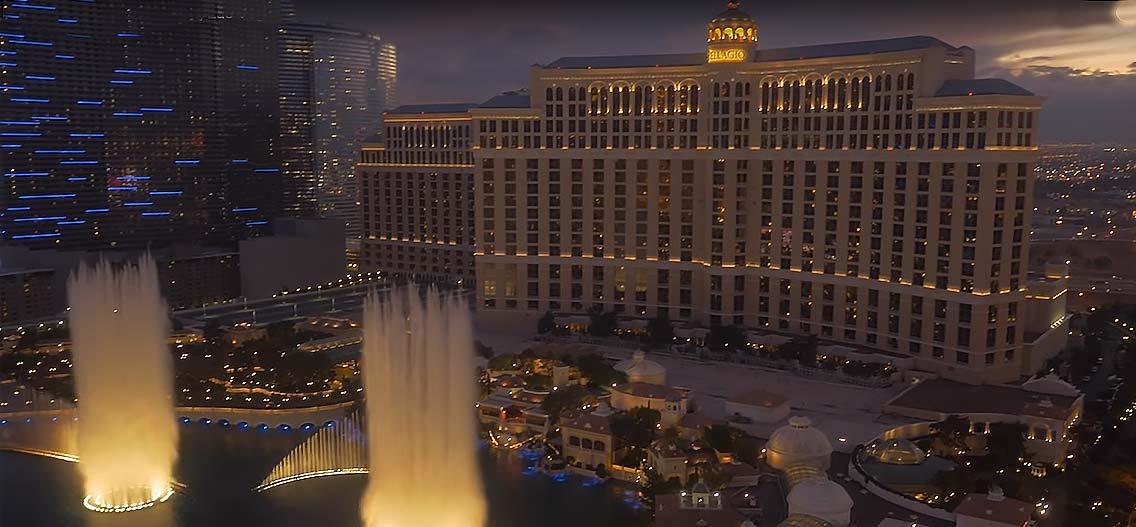Fontána v Las Vegas
