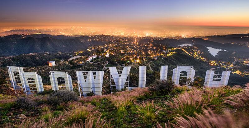 Hollywood nápis v Los Angeles
