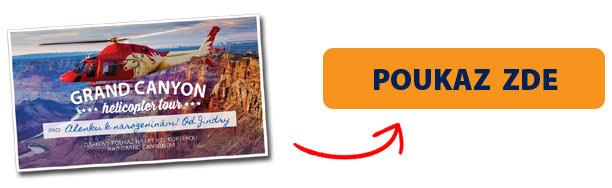 Dárkový poukaz na let helikoptérou nad Grand Canyonem