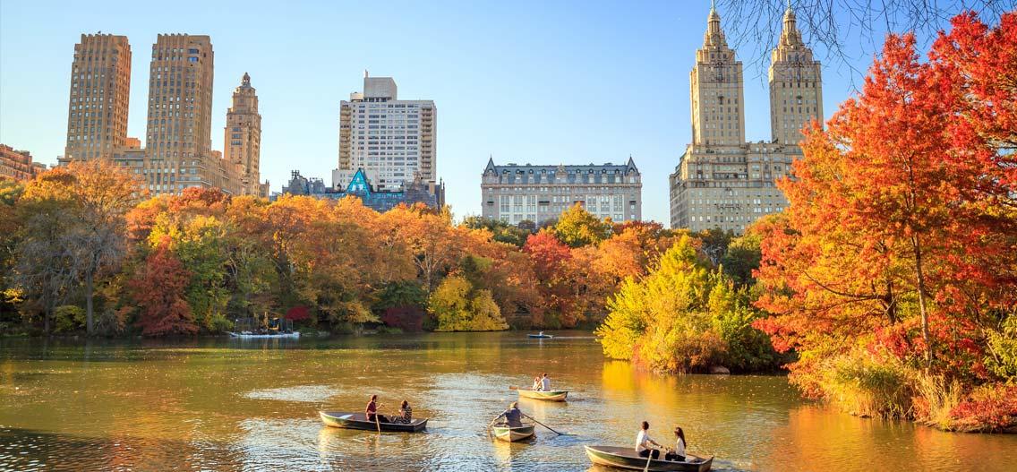 Počasi v New Yorku v listopadu