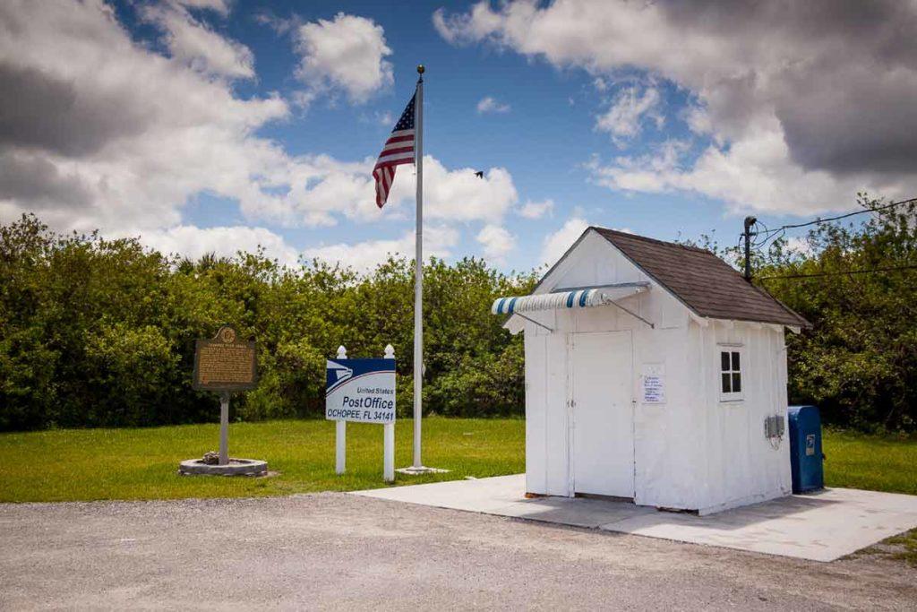 Nejmenší pošta na Floridě Ochopee Post Office