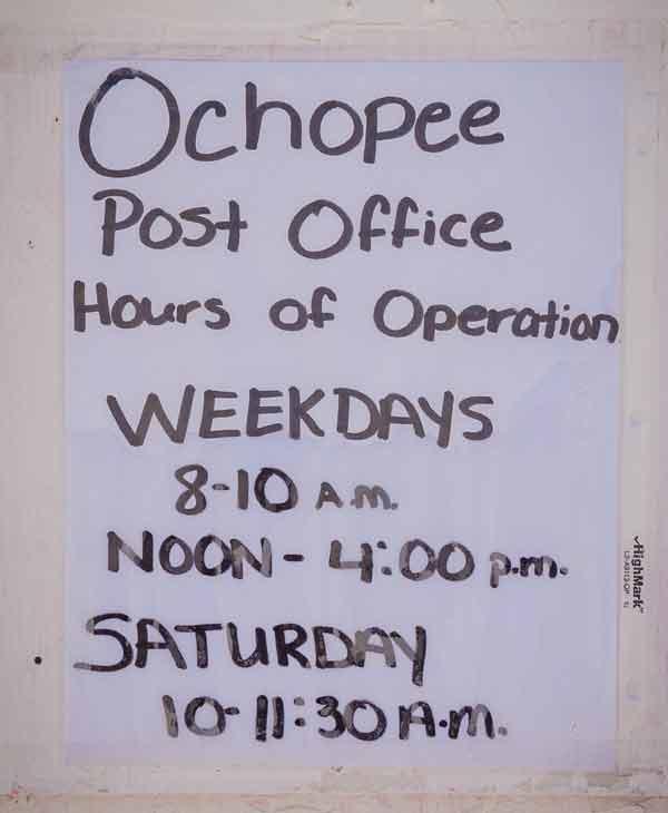 Otevírací doba Ochopee Post Office