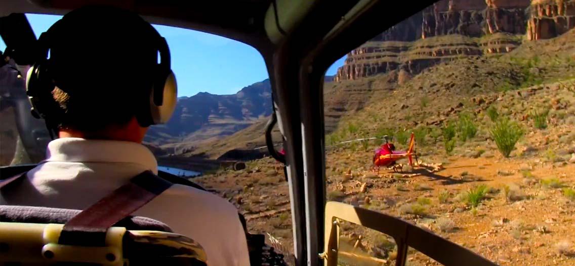 vyhlídkové lety helikoptérou nad Grand Canyonem