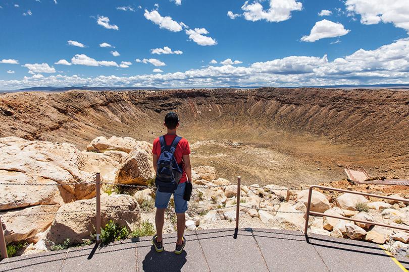 Kráter v Arizoně USA