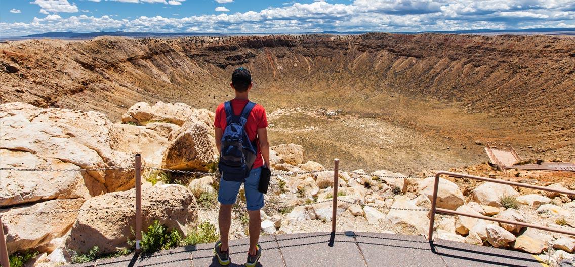 Meteor Crater v Arizoně - kráter