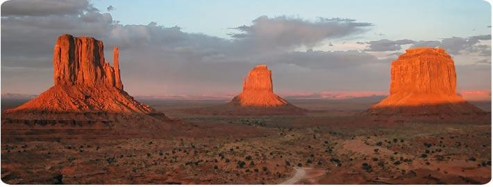 Nejznámější pohlad na Monument Valley