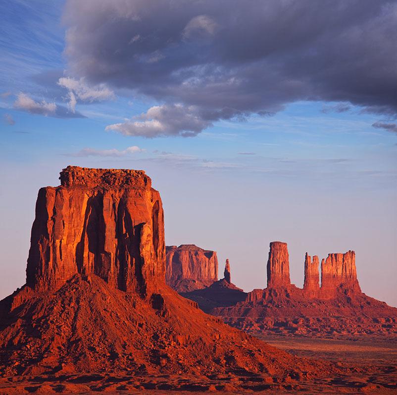 Monument Valley při západu slunce