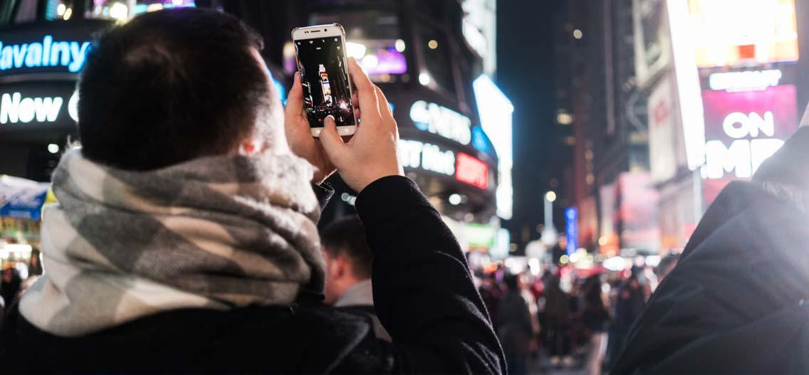 Silvestr na Time Square v New Yorku
