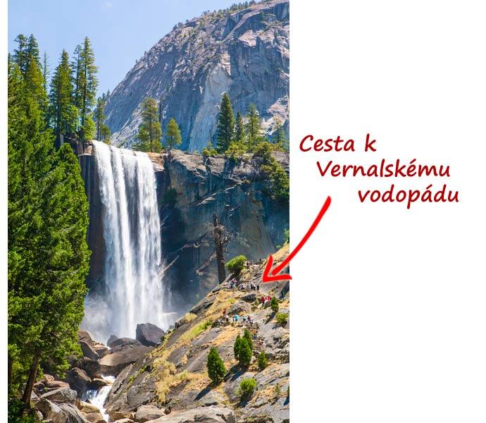 Vernalský vodopád v Yosemite národním parku