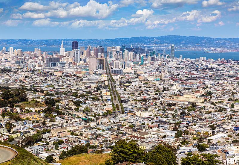 San Francisco Twin Peaks Hill