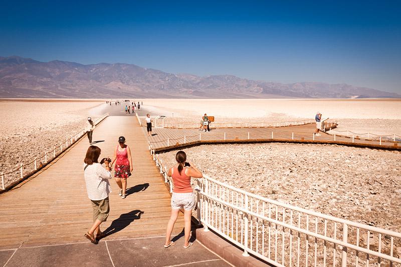 Bad Water v Údolí smrti