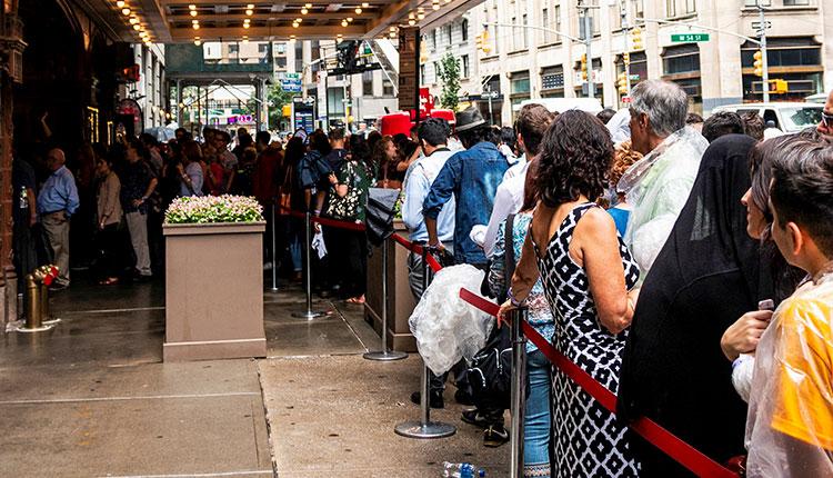 New York Pass a fronty u vstupů