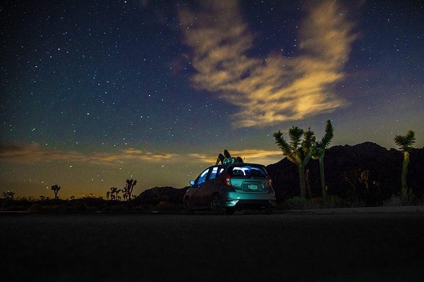 Noc v národním parku Joshua Tree