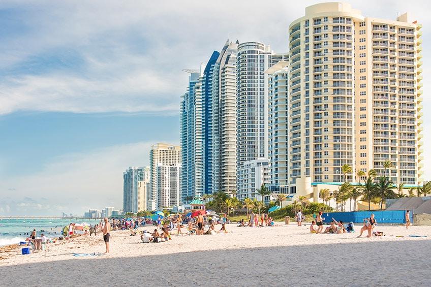 Pláže v Miami