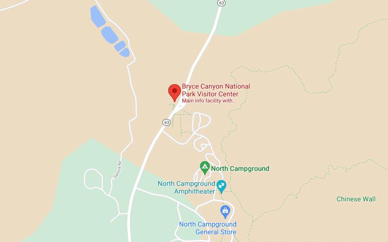 Brace Canyon mapa