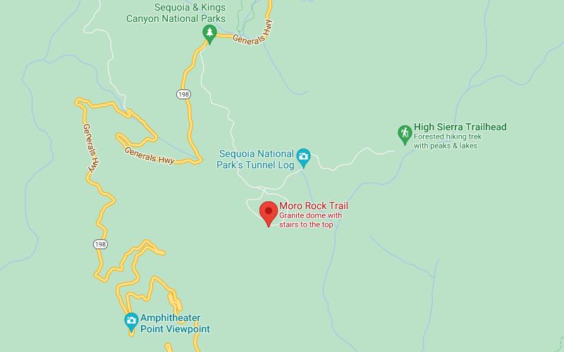 Moro Rock mapa