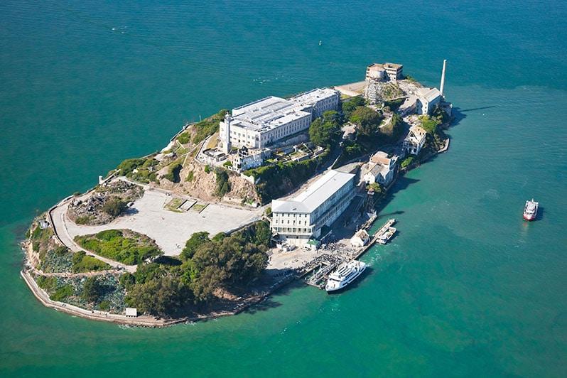 Alcatraz z výšky