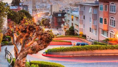 Nejklikatější ulice v San Franciscu