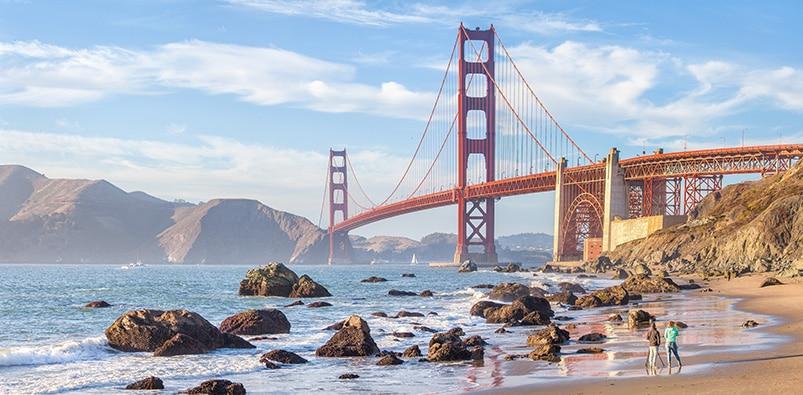 Pohled na most Golden Gate