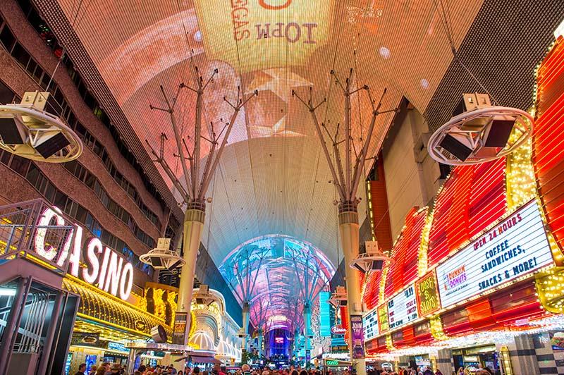 Světelná show na Fremont Street v Las Vegas