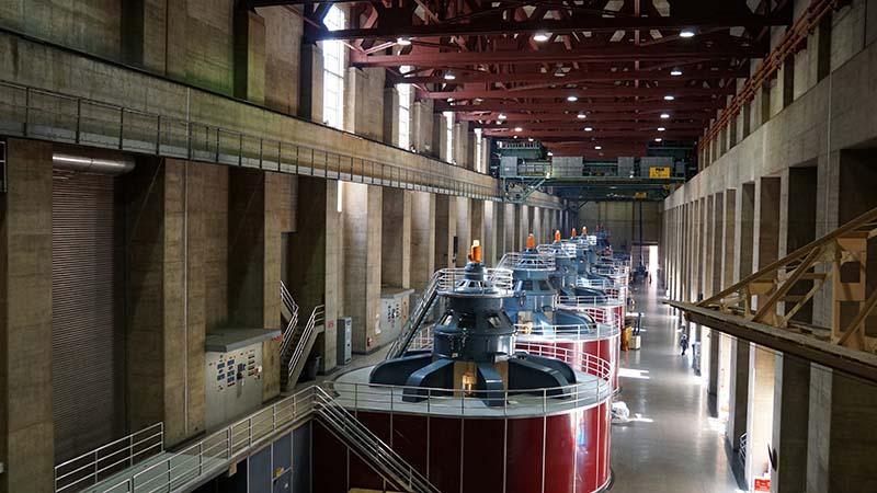 Generátory uvnitř Hoover Dam