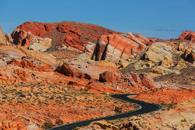 Silnice ve Valley of Fire