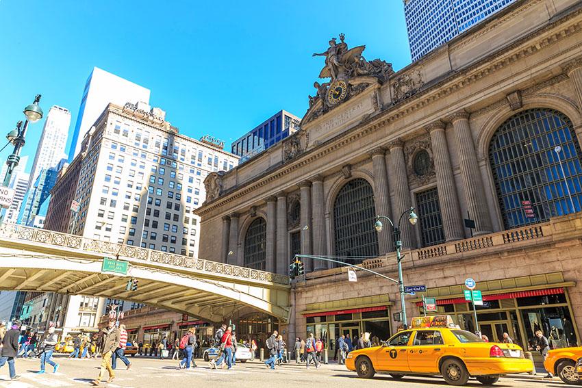 Budova hlavního vlakového nádraží v New Yorku