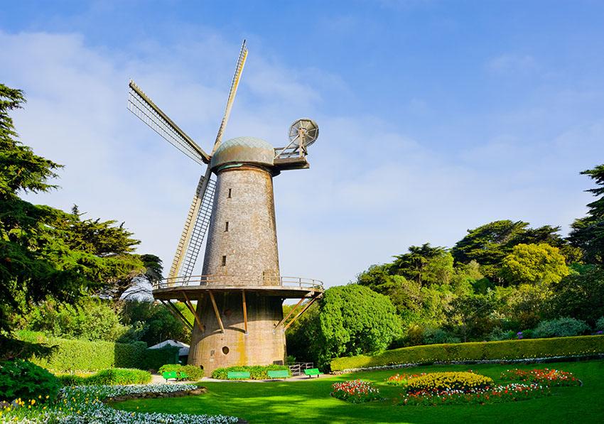 Větrný mlýn v Golden Gate parku